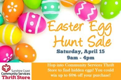 2017 Easter Egg Hunt Sale Community Services Thrift Store