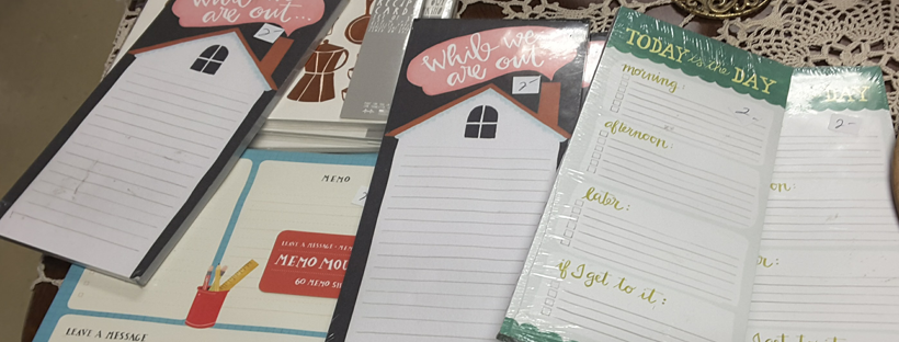 Stationery at Community Services Thrift Store