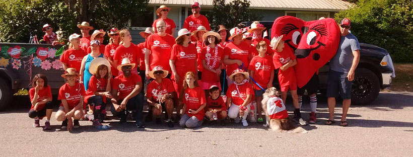 Sunshine Coast Community Services in Canada Day Parade July 1